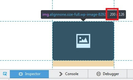 How to find the image dimensions in Mozille Firefox - the first number is the image width