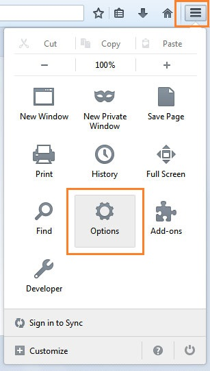Firefox menu - How to clear your cache in Firefox - New Zealand digital agency Phancybox NZ