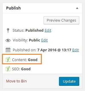 Yoast SEO 3.3 update lets you Test your Content Quality - Content Good box - Phancybox New Zealand Digital Agency