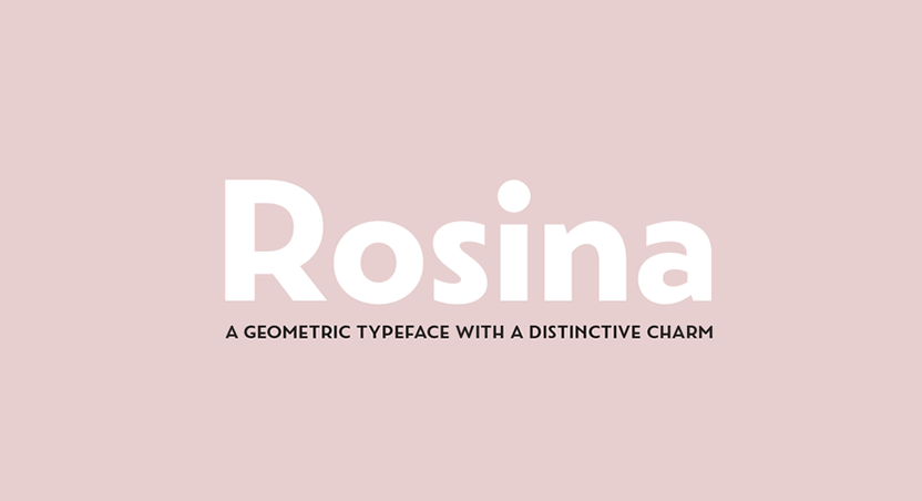 Rosina geometric typeface bold fonts are trending in New Zealand Phancybox Web Design - 5 New Zealand Web Design Trends for 2017