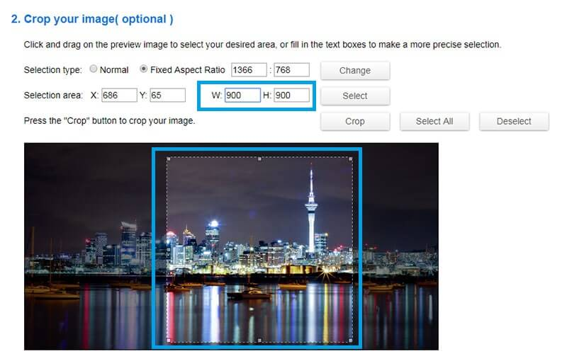 Crop your image to avoid distortion resize an image Phancybox Wanaka digital agency - How to Resize an Image without distorting it